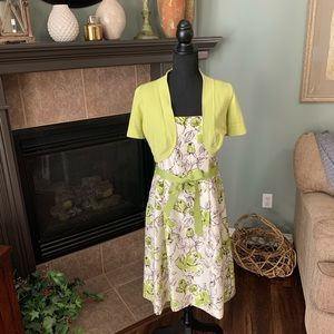Jessica Howard Spring Dress with Sweater